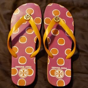Tory Burch flip flops used